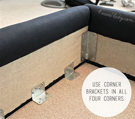 Upholstered Bed Frame Diy Diy Upholstered Wing Bed