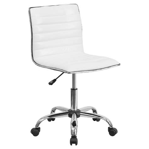 target office chairs low back armless designer swivel task chair white target