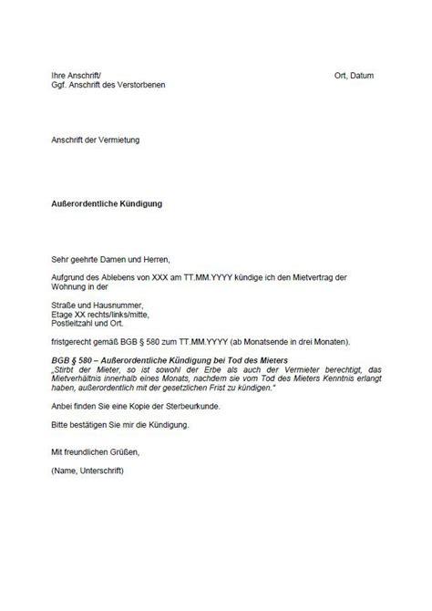 mietvertrag k 252 ndigung muster k 252 ndigung vorlage fwptc