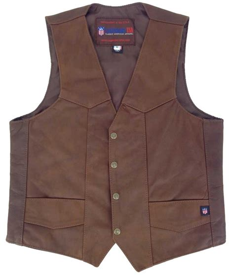 Cowhide Leather Vest legendary mens vintage brown cowhide leather vest