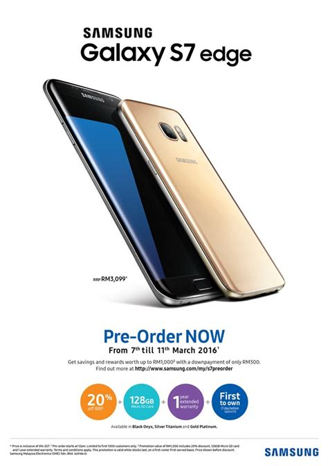 Hp Samsung S7 Malaysia samsung galaxy s7 edge price pre order discount available march 17 in malaysia