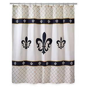 Fleur De Lis Shower Curtains Avanti Luxemborg Fleur De Lis Shower Curtain Bed Bath Beyond