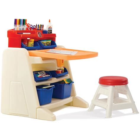 step 2 174 flip doodle easel desk with stool 190679 toys