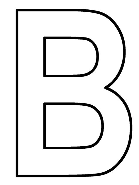 The Letter B Coloring Page letter b coloring pages az coloring pages