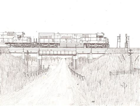 coloring page freight train mo pac freight train by lonewolf3878 on deviantart