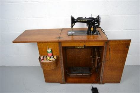 fold away sewing machine table vintage singer sewing machine electric treadle in fold