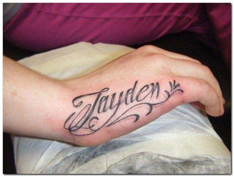 Tattoo Name On Hand | hand tattoos picture list of hand tattoo designs