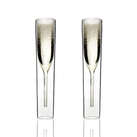 touch of modern chagne glasses set of 2 insideout glasses byamt