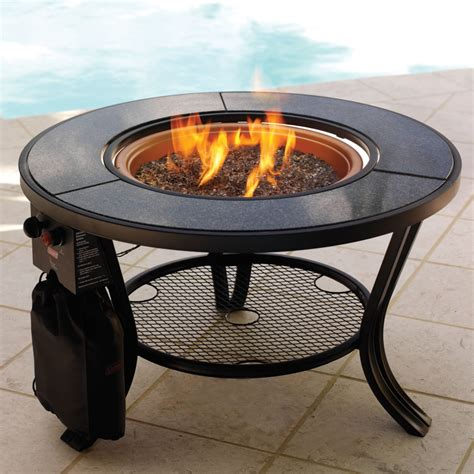 Propane Fire Pit Table Slate Tile Hexagon Propane Gas Propane Firepit Kit