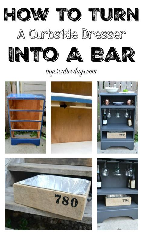 How To Turn A Dresser Into A Bookshelf by How To Turn A Curbside Dresser Into A Bar Dresser Bar