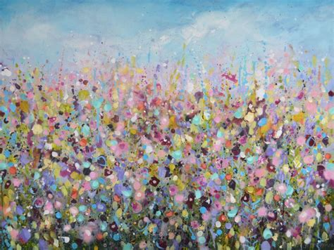 large paintings large floral abstract painting original modern