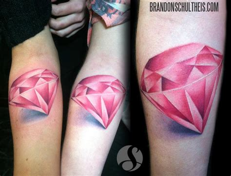 tattoo diamond color matching pink diamonds by brandon schultheis tattoos