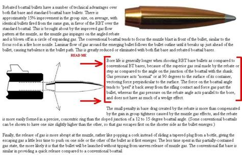 what is a boat tail bullet bullet tumbling