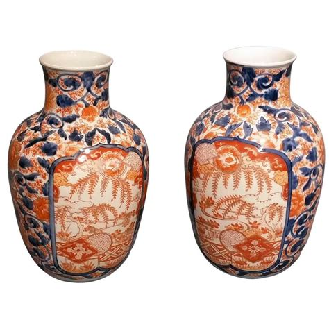 Imari Vases For Sale by Pair Of Neck Imari Vases For Sale At 1stdibs