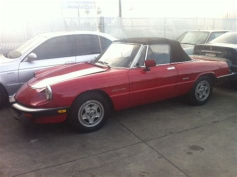 sell used 1986 alfa romeo spider california car in
