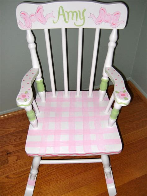 personalized childrens furniture children personalized and painted rocking chair
