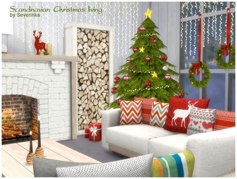 sims 3 christmas decor cc scandinavian living at sims by severinka 187 sims 4 updates