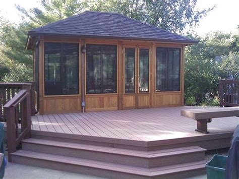 Cedar Gazebos For Sale This Is A Timber Tech Composite Deck With A Cedar Gazebo