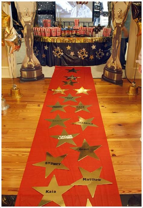 hollywood themed names gold stars oscar themed parties and red carpets on pinterest