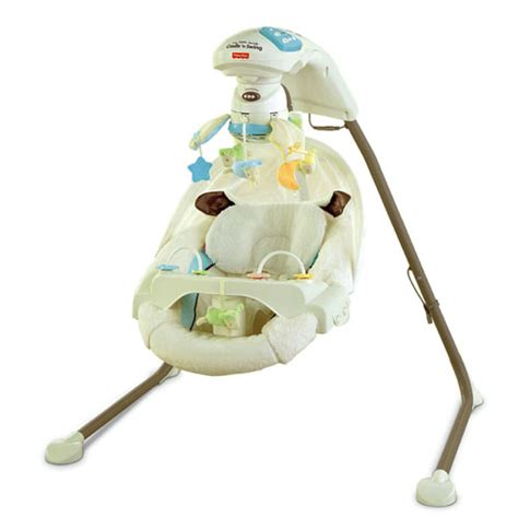 fisher price electric baby swing my little lamb cradle n swing