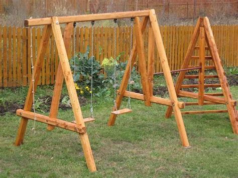 wooden swing set plans 1000 ideas about swing set plans on pinterest swing