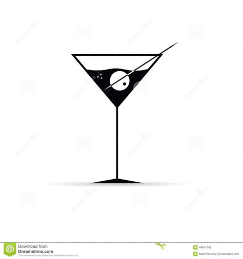 martini olive vector martini with olive vector stock vector image of beverage