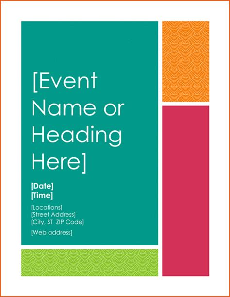 free event flyer templates word 8 free word flyer templates bookletemplate org