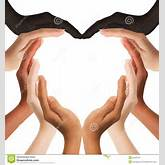 Multiracial Human Hands Making A Heart Shape Royalty Free Stock Images ...