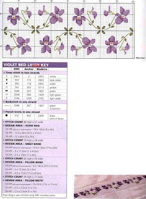 lenzuola per da ricamare punto croce schema per lenzuola violetta da ricamare a punto croce