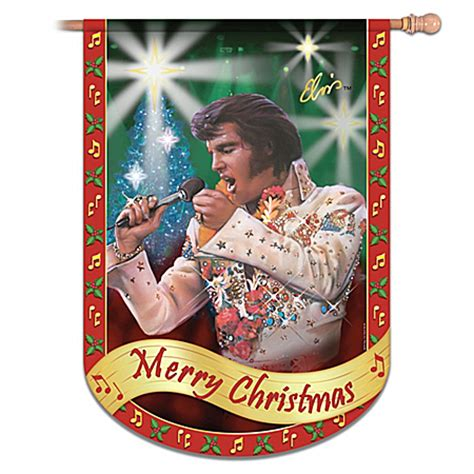 elvis presley merry christmas flag elvis home decor ebay