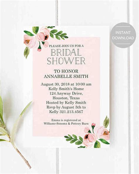 bridal shower invitations to make at home 10 affordable bridal shower invitations you can print at home martha stewart weddings