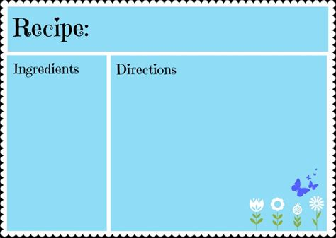 Free Recipe Card Templates For Mac by 20 Best Recipe Cards Images On Recipe Card