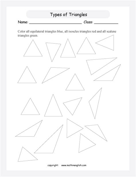 isosceles triangle worksheet equilateral triangle worksheet images