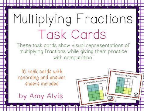 multiplying fractions using cards template 17 best images about sol 6 6 multiplying dividing