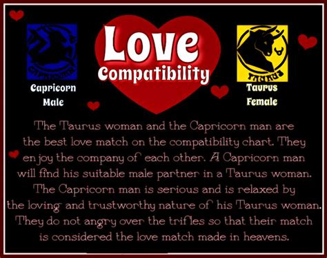 love compatibility capricorn male taurus female i am