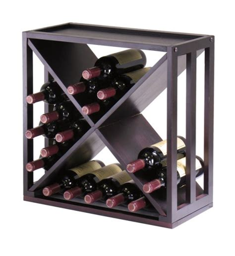 A Wine Rack by 24 Bottle X Wine Rack In Wine Racks And Cabinets