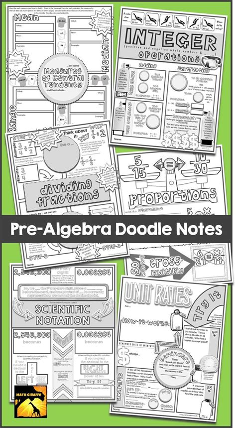 doodle your math book 1518 best images about middle school math on