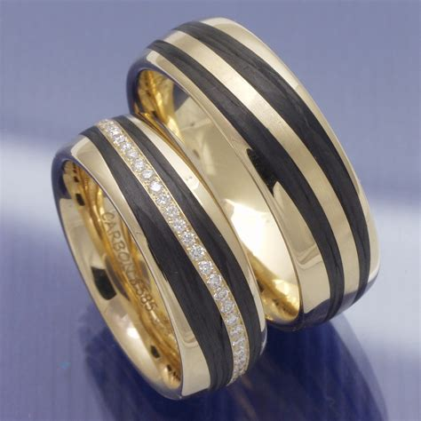 Trauringe Shop by Eheringe Shop Trauringe Apricotgold Carbon Und Brillantkranz