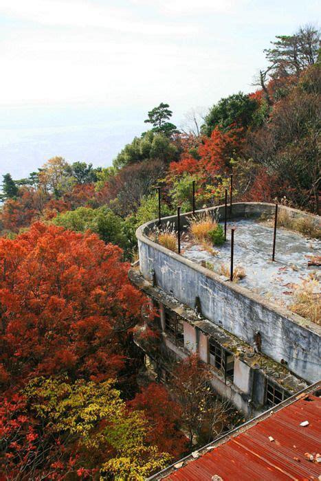 abandoned hotel   summit   mountain