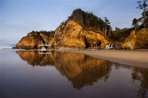 hug point seascape oregon coast cannon beach photo