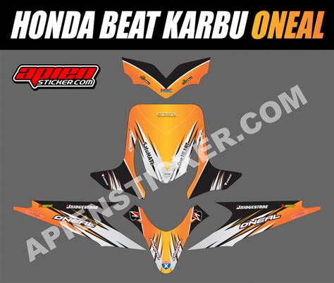 Jual Decal Motor Honda Beat Carbu Spec B Baru Aksesoris Sticker St striping motor beat karbu impremedia net