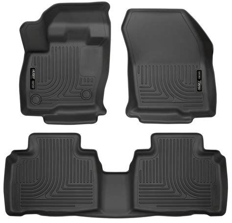 cargo mats for 2014 ford edge husky weatherbeater all weather floor mats for 2015 2016