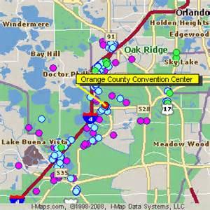 Hotels Near Orlando Convention Center Map orange county convention center orlando florida fl