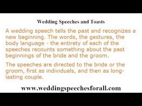 best speech guidelines wedding speeches 4 guidelines in writing a memorable