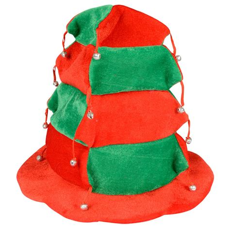 red green tiered christmas xmas festive novelty hat with