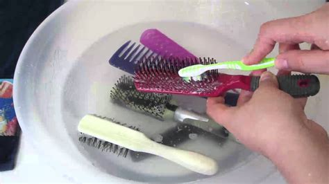 Cleaning Hair From by How To Clean Wash Your Hair Brushes