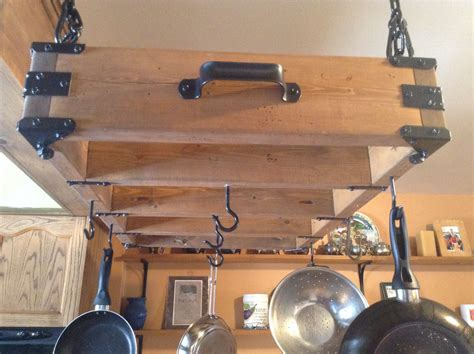 rustic pot rack    home projects  ana