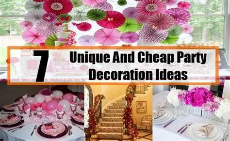 How To Throw A Backyard Wedding Unique And Cheap Party Decoration Ideas Unique Ideas For