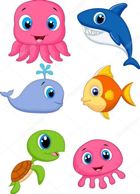imagenes animales de mar animales de dibujos animados lindo del mar archivo