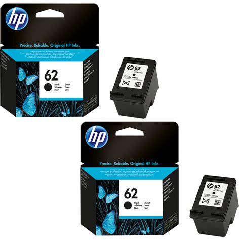 Hp Original 62 Cartridge Color original hp 62 black colour combo pack ink cartridges